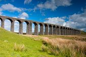 Famous Ribblehead Viaduct In Yorkshire Dales,england.it Is 440 Yards Long And 104 Feet Above The Val