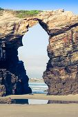 Famous Spanish Destination, Cathedrals Beach (playa De Las Catedrales) On Atlantic Ocean poster