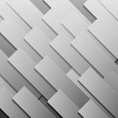 Abstract grey paper rectangle shapes background