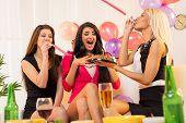 Cheerful Girls On Birthday Party