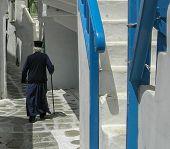 Walk in an alley