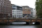 City house bridge Hamburg