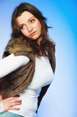 image of plus size model  - Winter fashion - JPG
