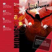 Music event illustration, vector
