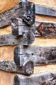 Corner Detail of Log House