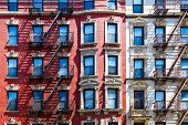 picture of brownstone  - Manhattan New York City  - JPG