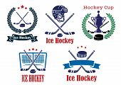Ice Hockey sporting heraldic emblems and symbols