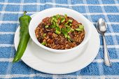 Chilli With Green Chile Pepper