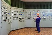 Engineer With Log On Main Control Panel