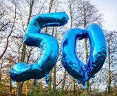 50 today balloon helium