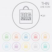 Big sale bag sign icon. Special offer symbol.