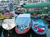 Colorful Boat At Sai Kung Seaside Scenic Hong Kong