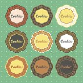 Cookies retro style labels collection