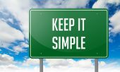 Keep it Simple on Highway Signpost.