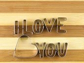 Love And Bread Cutting Board.