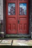 Red Rustic Door