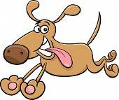 Running Dog Cartoon Illustration