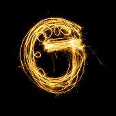 Sparkler Firework Light Alphabet G.