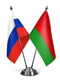 Belarus and Russia - Miniature Flags.
