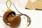 Chocolate Christmas Baubles With Delicious Stuffing