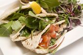 Pitta Bread Filled With A Tuna Salad