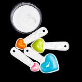image of spooning  - Measuring spoons from one quarter of a tea spoon to one full tea spoon - JPG
