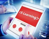 E-Learning Student Study Online SEO Concepts