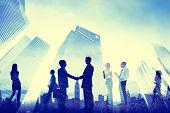 Business Handshake Corporate Meeting City Concept