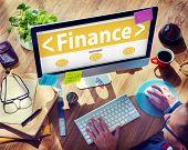 Digital Online Finance Business Money Office Working Concept