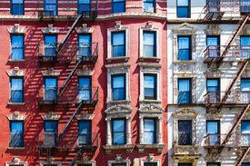 stock photo of brownstone  - Manhattan New York City  - JPG