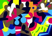 stock photo of psychological  - people psychology abstract background in graphic style  - JPG
