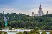stock photo of mater  - Moscow State University on Vorobyevy Hill - JPG