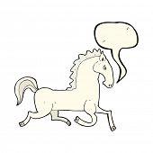 image of stallion  - cartoon stallion - JPG