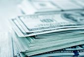 pic of 100 dollars dollar bill american paper money cash stack  - stack of money - JPG