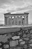 picture of parthenon  - An exterior view of the ruins of the Parthenon in Athens - JPG