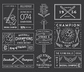 image of hitter  - Nine black and white Vector sport badges and crests - JPG