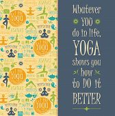 picture of pranayama  - Yoga background with yogic quote - JPG