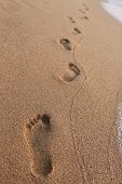picture of footprints sand  - close - JPG