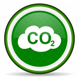 picture of carbon-dioxide  - carbon dioxide green icon co2 sign  - JPG