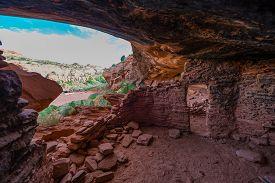 picture of cave-dweller  - Castle Creek Indian Ruins near halls crossing Utah - JPG