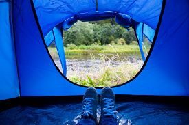 picture of camper  - camping - JPG