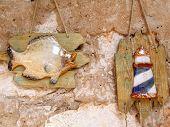 Ceramic Ornaments With Mediterranean Motif