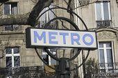 Paris Metro White And Blue