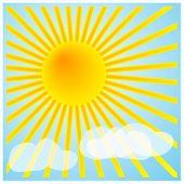 Sun_001Sunshine And Light Clouds