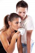 Drinking Tea Man And Woman