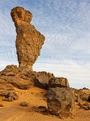 Finger Of Allah Rock Formation - Akakus (acacus) Mountains, Sahara, Libya