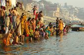 People On The Banks Of The Ganges River