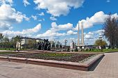 Belarus Nice Vitebsk Spring Landscape View World War Two Victory Square