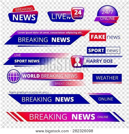 Breaking News Television Channel Broadcasting
