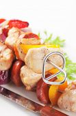 Skewer with meat and vegetables